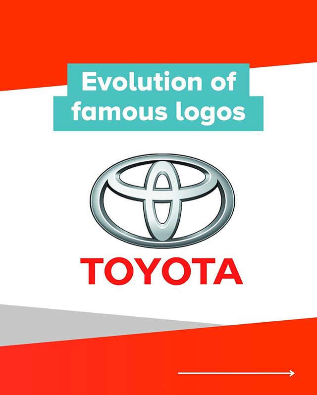 Evolution of famous logos: Toyota 🚗  This one was fun to put together, with plenty of Japanese history behind the logo from times gone by.  Which is your favourite Toyota logo? Let us know in the comments below           #brandevolution #famousbrands #topdesigns #branddesign #branddesigner #brandhistory #logoevolution #famouslogos #logodesigner #logodesigners #logohistory #famousbrand #visualbrandidentity #visualdesign #visualdesigner #brandingidentity #brandingidentitydesign #welovebranding #designlogo #identitydesign  #toyotalogo #toyotadesign #toyoda #automotives