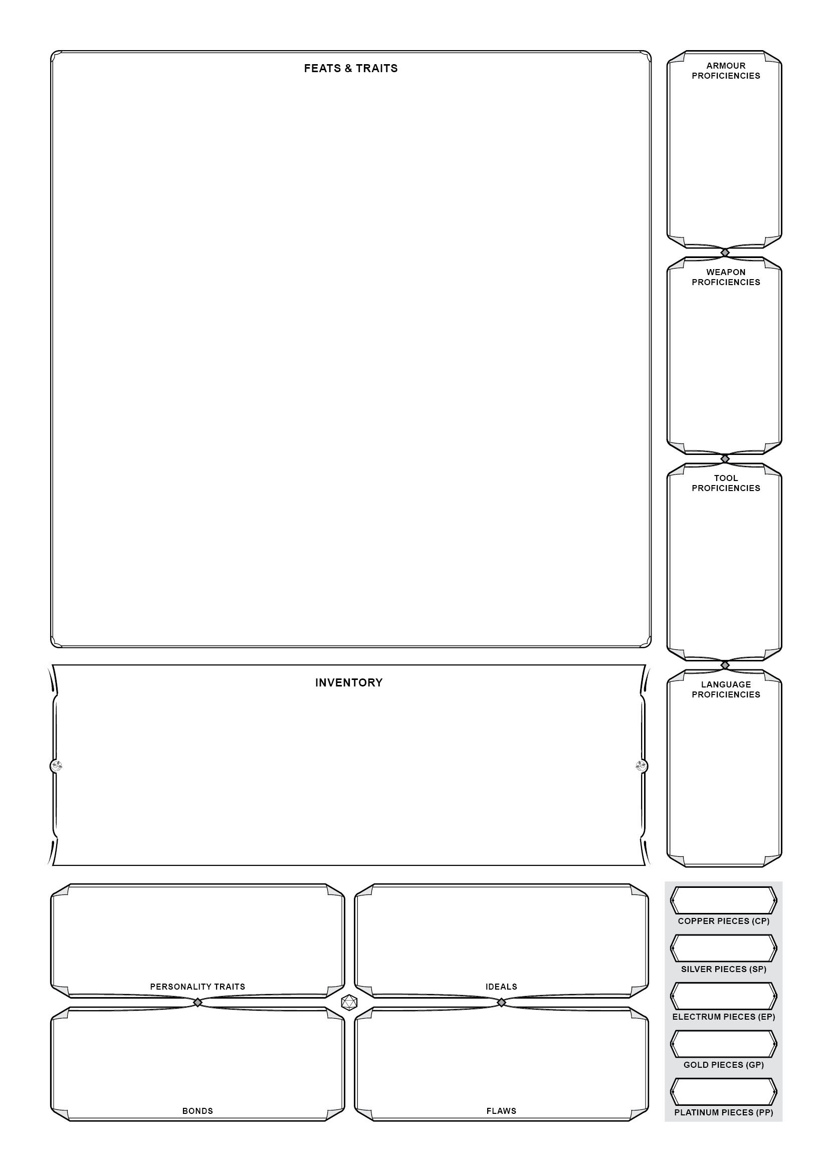 photo relating to 5e Character Sheet Printable identify Matthew Perkins