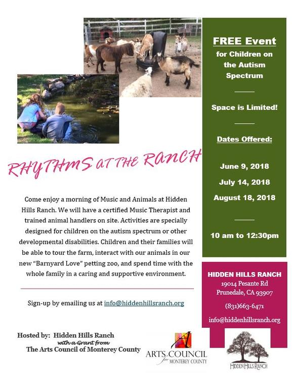 Rhythms at the Ranch Autism Event