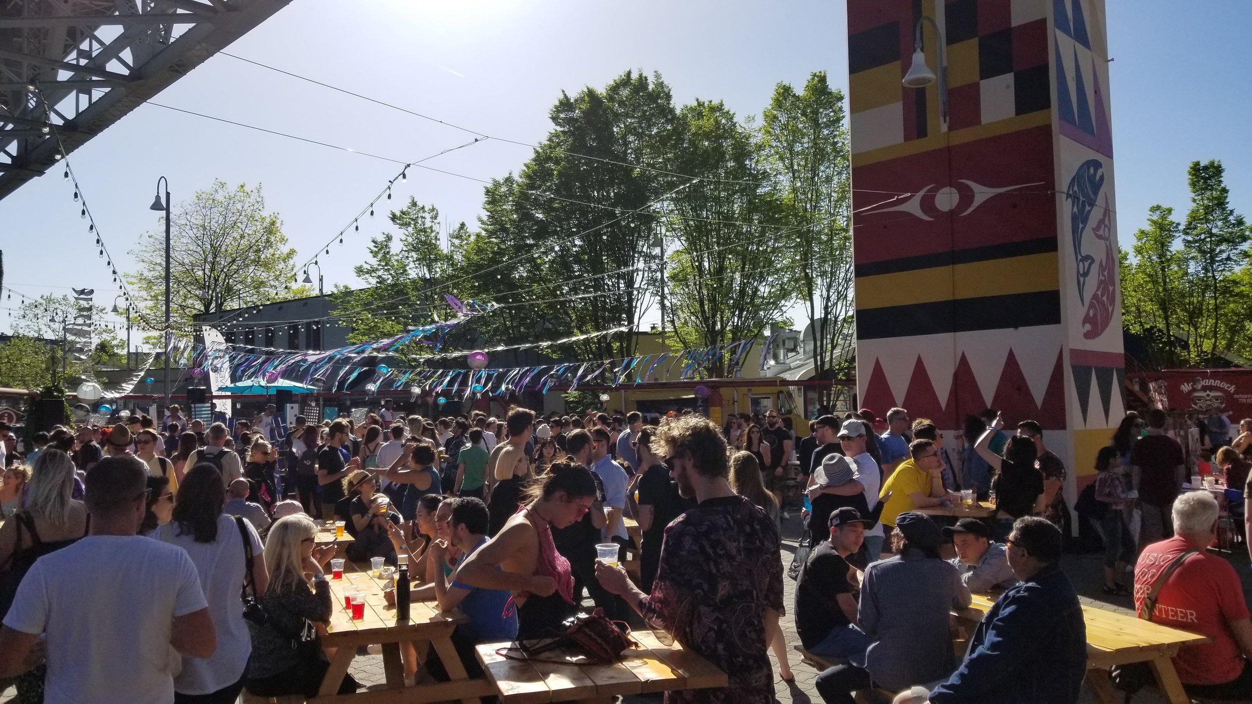 Public Disco at Art Smash on Granville Island