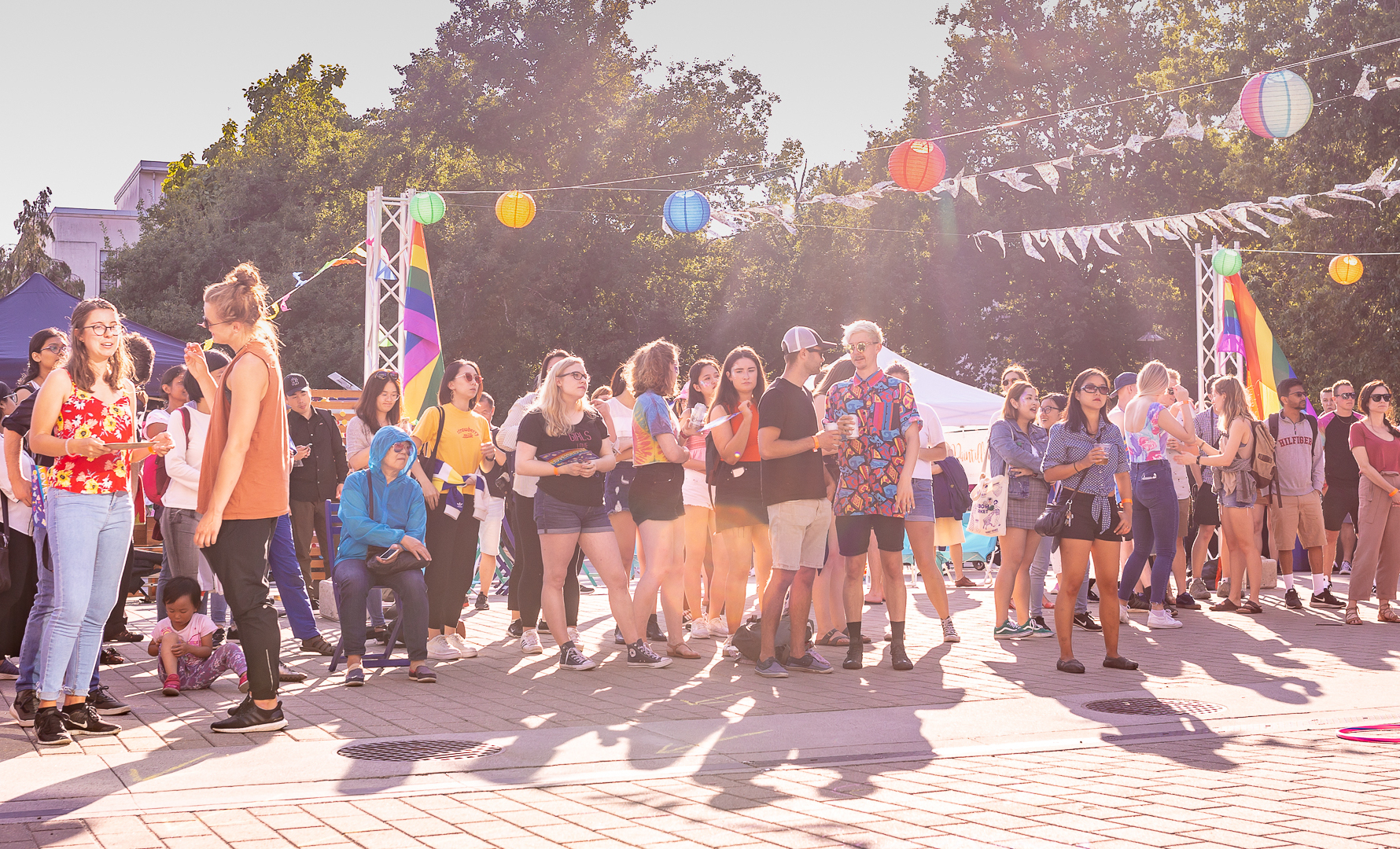 UBC Student Nest Plaza - We teamed up with Utown UBC to produce their first annual pride celebration in the plaza outside the AMS Student Nest. The Nest is a student-centered hub of activity, providing a welcoming space for all students to eat, shop, study, and socialize.