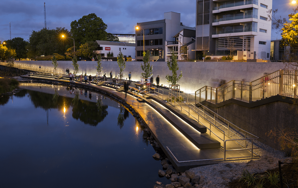 The Earthquake memorial in central Christchurch.