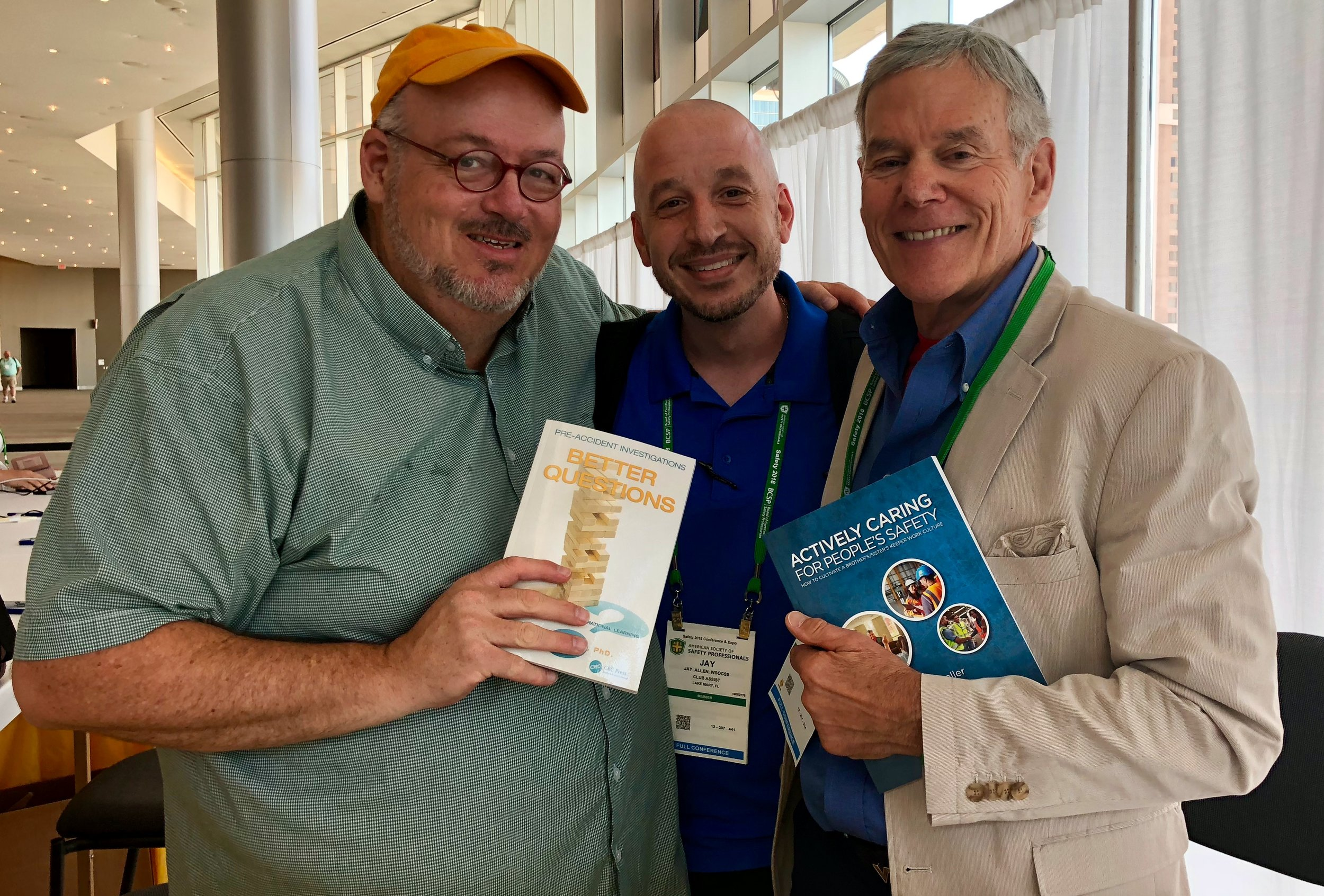 Even with different perspectives of safety,  Dr. Conklin  and  Dr. Geller  agreed to take this picture with Dr. Allen.