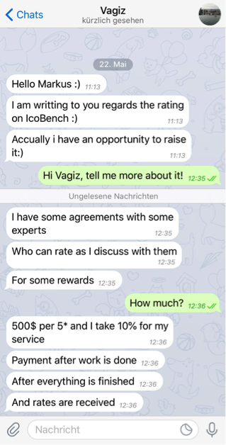 Alethena cofounder Markus Hartmann in conversation with a potential reviewer.  ( Source :  Brave New Coin )