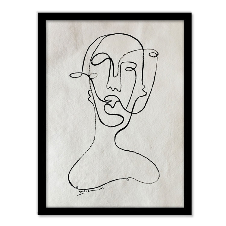 'Faces' Rag Paper - Framed   ANGUS MARTIN
