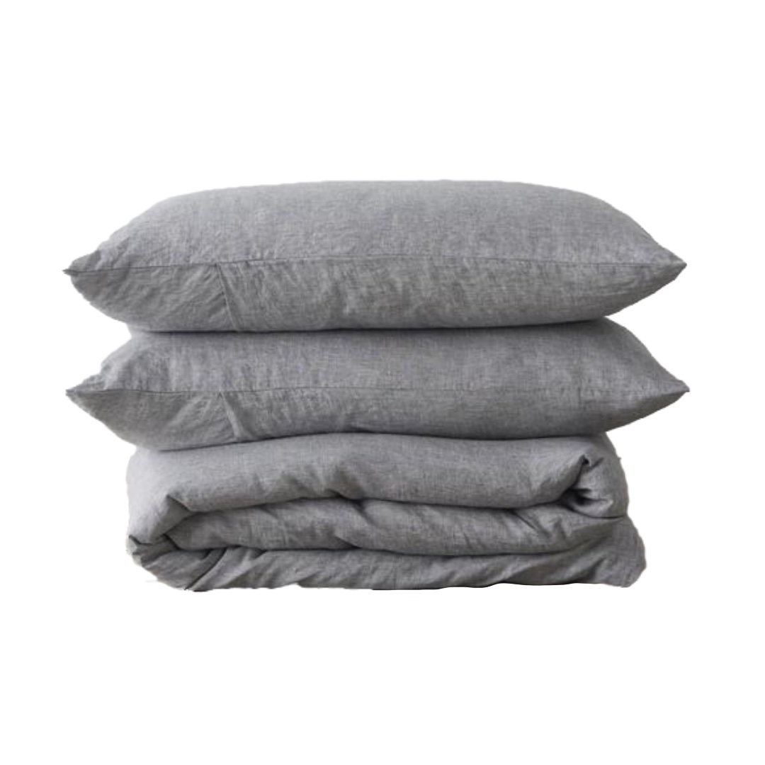 Linen Duvet Cover Set - Ash   CULTIVER