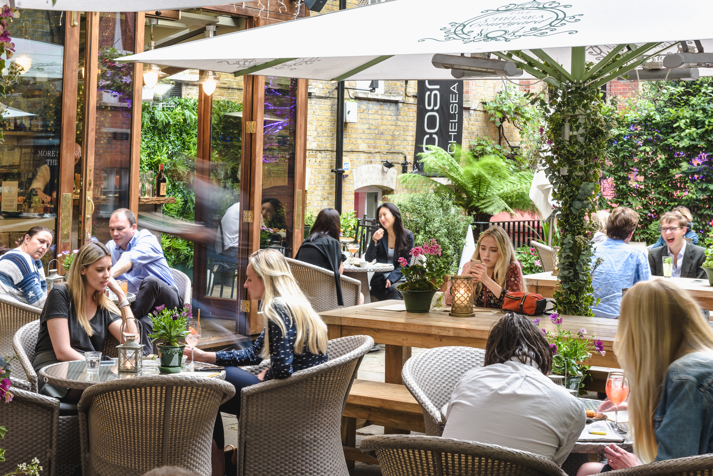 The weather is great and our outdoor courtyard awaits - Join us for some great food, drinks and atmosphere in the sunshine. We look forward to welcoming you at The Chelsea Courtyard Bistro & Bar