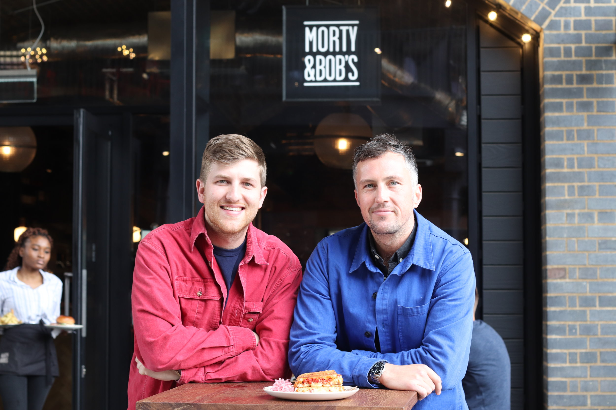 M&B Founder Charlie (left) with P&B's operations manager Fred (right)