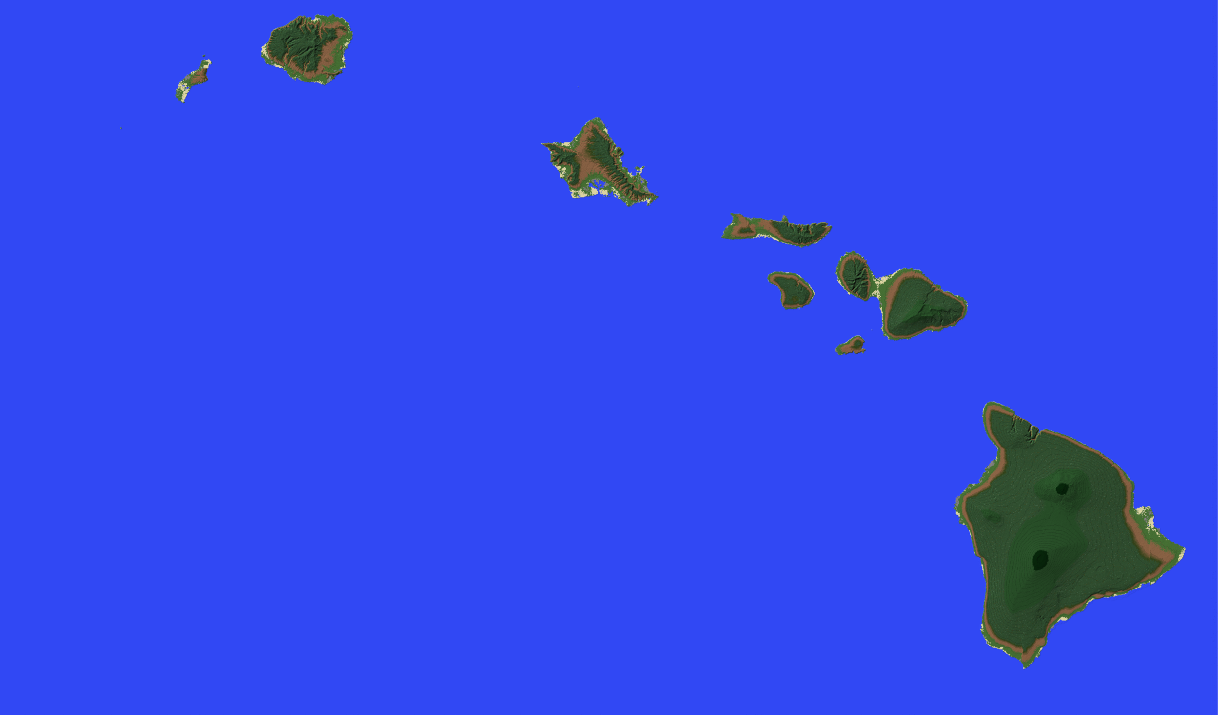 NEW Hawaiian Kingdom map is one of plethora worlds in the AGILE Minecraft Multiversity