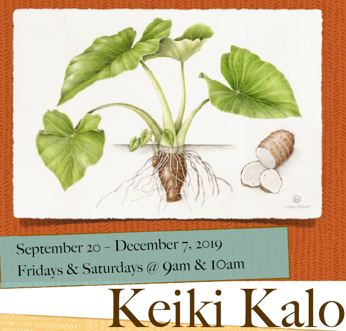 Click image for more information on this priceless experience for your keiki!    Dear Teachers, Parents & Friends of HawaiʻiʻsKeiki,    We are thrilled to introduce you to our upcoming showjust for preschoolstudents–Keiki Kalo. This unique offering is intended to be an immersive and sensory telling of the miracle ofkalo. Bring your children and be prepared to dig, to plant, to harvest and to wonder at the life cycle of akaloplant as it is brought to magical life.     Weʻve attached a briefintroduction to the production here and would love to speak with you more about this special presentation.    Much Aloha,   The TYA Program @ the University of Hawaiʻi at Manoa  (theatre for young audiences)   PHONE:(808) 956-2591 FAX:(808) 956-4234 EMAIL:ktyouth@hawaii.edu