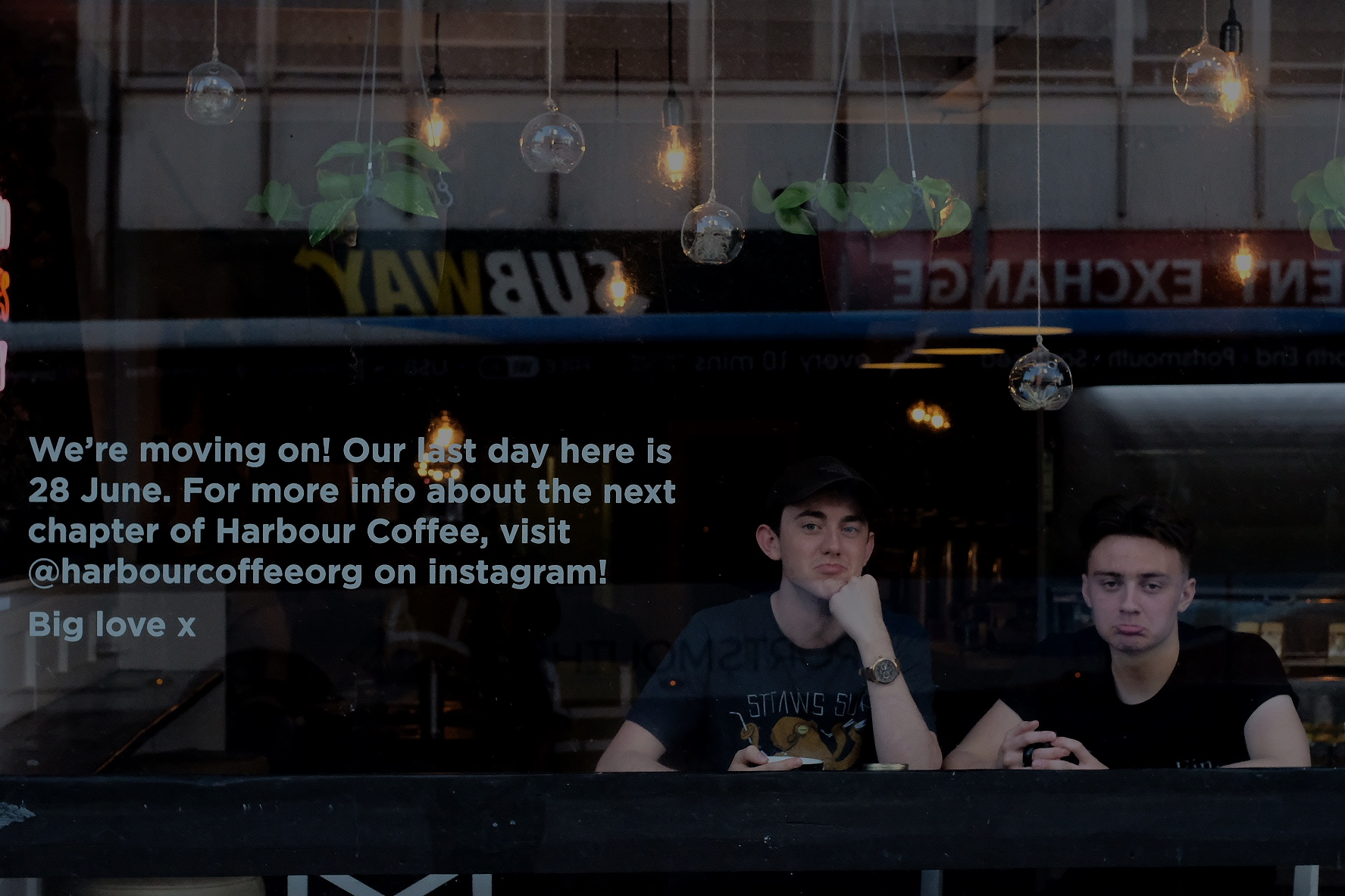 Harbour Coffee - As part of moving from 97 Commercial Road, Harbour Coffee will no longer be open on Commercial Road. Harbour Coffee is being re-imagined as a portable enterprise and will be up and running from early August at our services and visiting events!