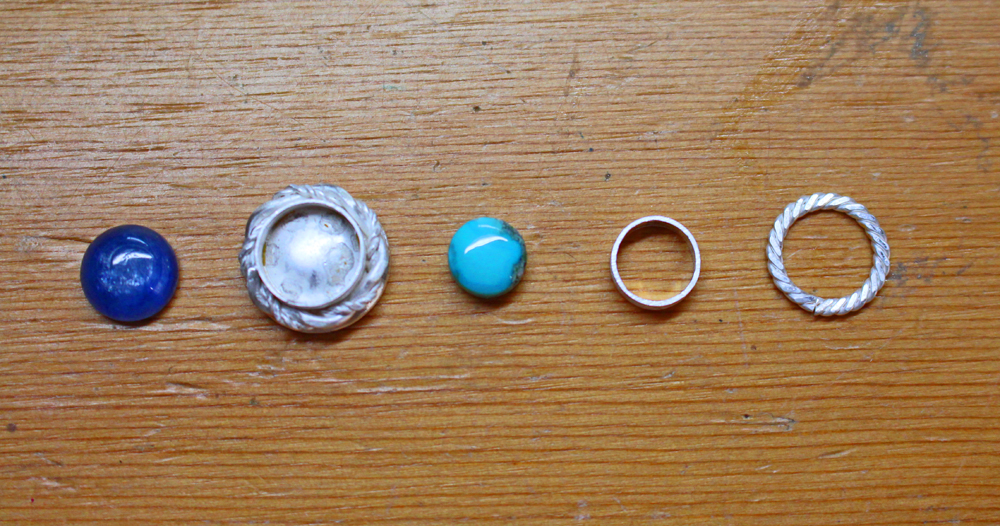 Kyanite and Turquoise rings in pieces resized.jpg