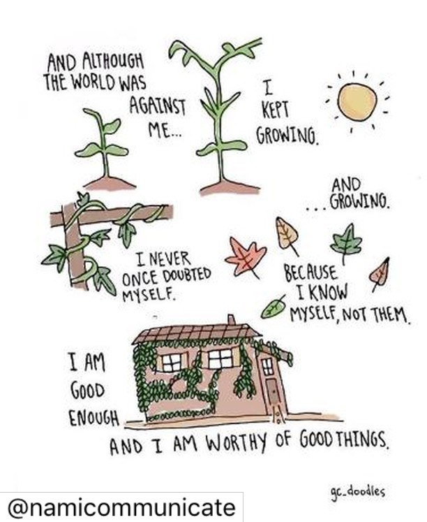 "As a new season approaches, it's important to reflect on your growth no matter how big or small. .  This post really spoke to me (Allie). Thanks, @namicommunicate 🥰 .  It reminded me to slow down, appreciate MY own growth process, and MY abilities. It reminded me to believe in myself and NOT to compare. In almost every session I repeat one of my favorite quotes to my clients, ""Comparison is the thief of joy"" - Theodore Roosevelt. It's a powerful reminder to be present and own your truth. .  I challenge you to own your truth, be present, and remind yourself that you are indeed capable & worthy of good things. 💕 . #mentalhealth #mentalhealthawareness #selfcare #selflove #growth #cincinnati"