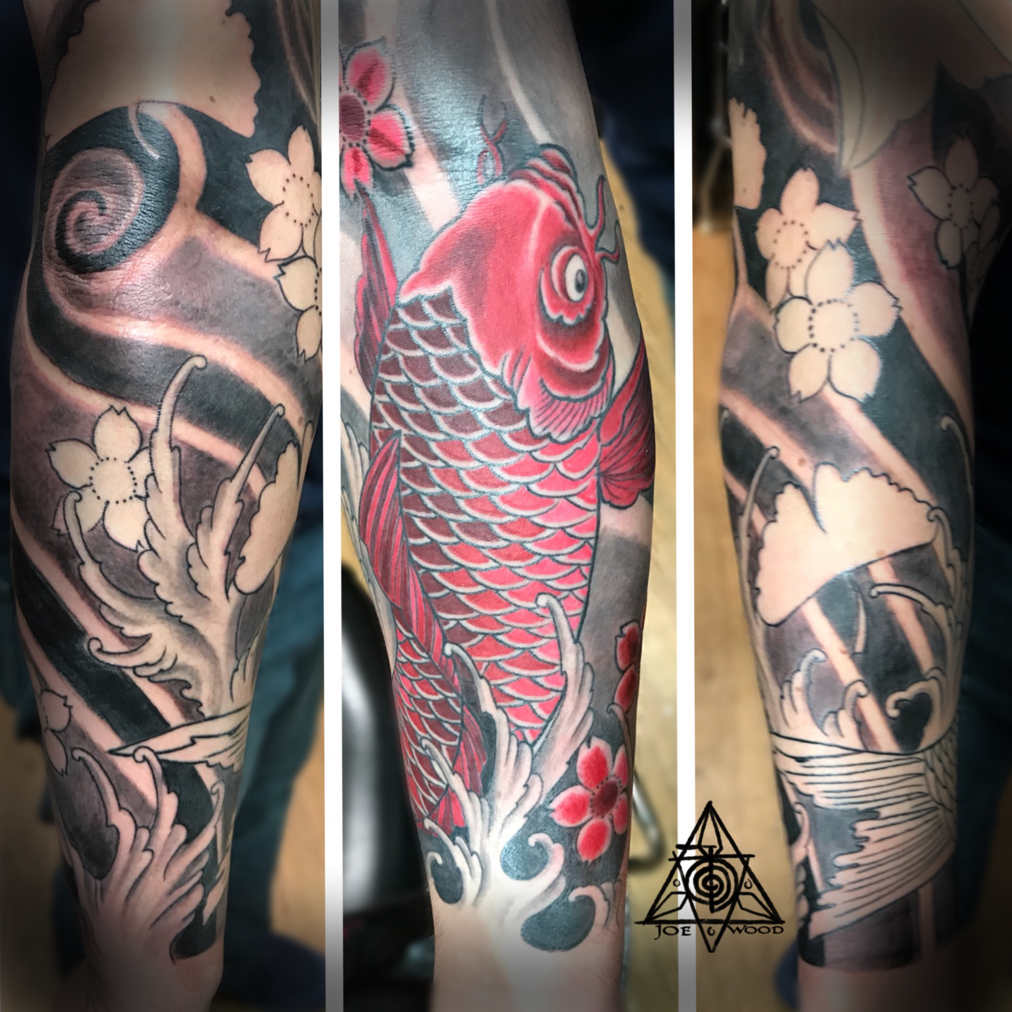 Unfinished Koi sleeve by Joe Wood