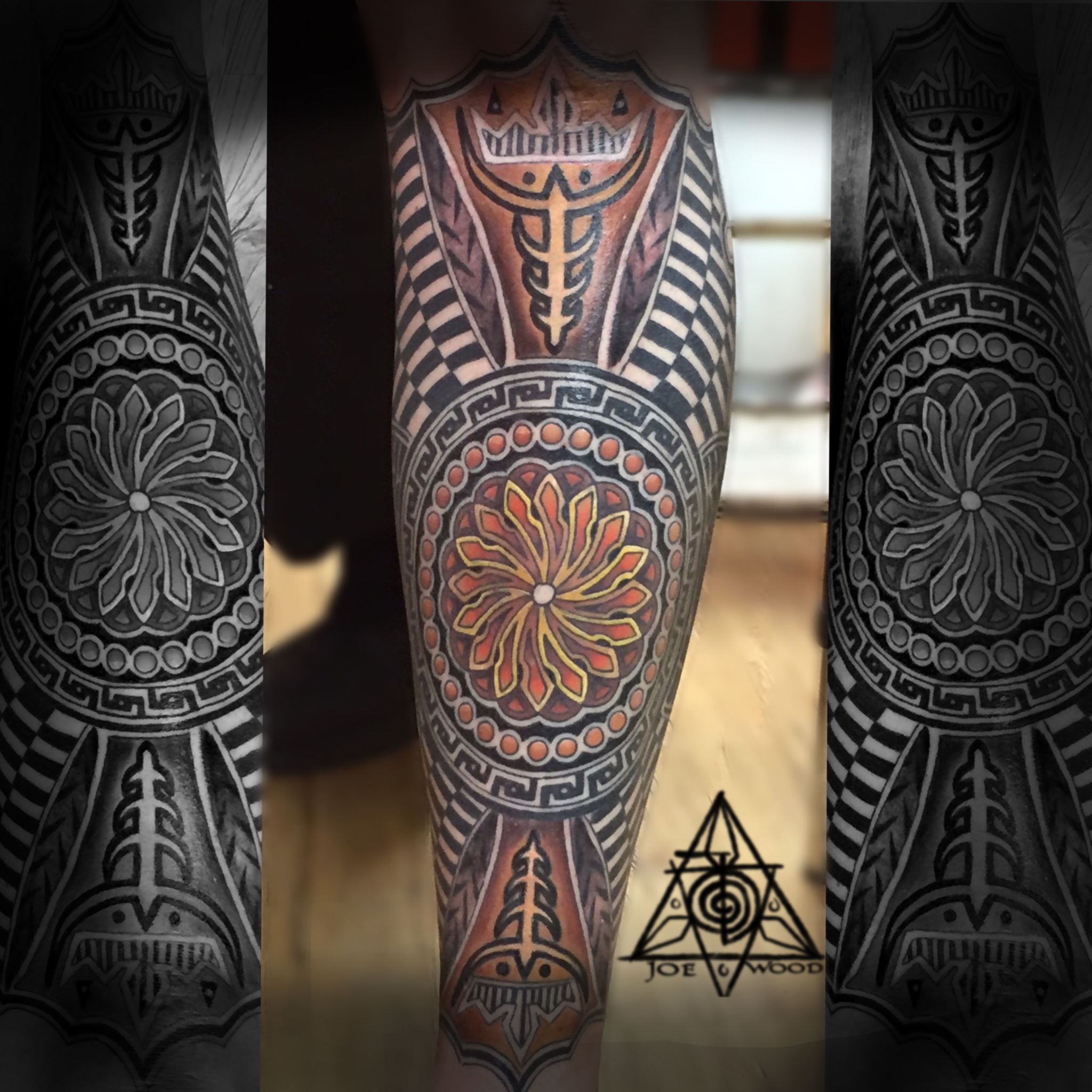 Polynesian geometry fusion by Joe Wood