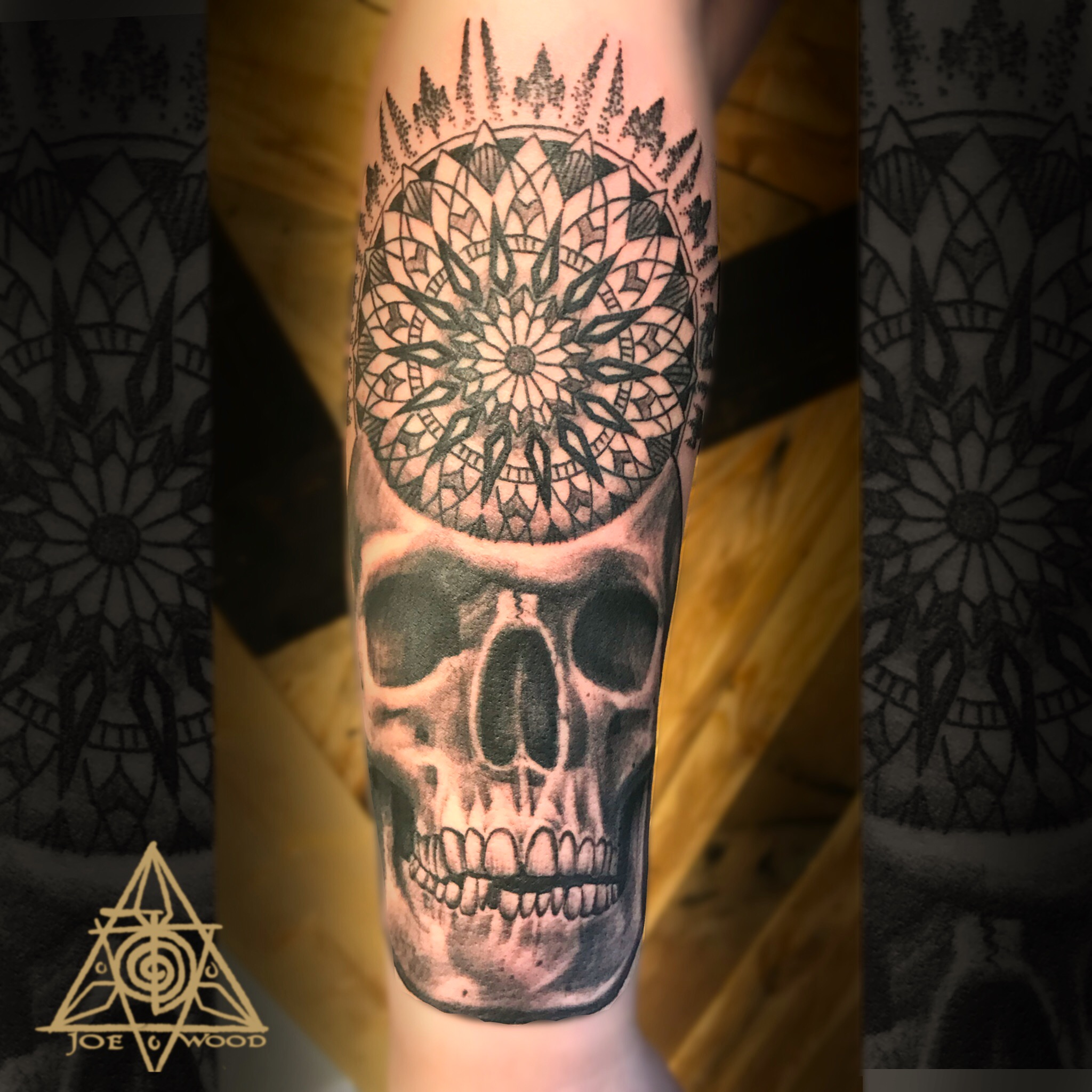 Skull mandala by Joe Wood
