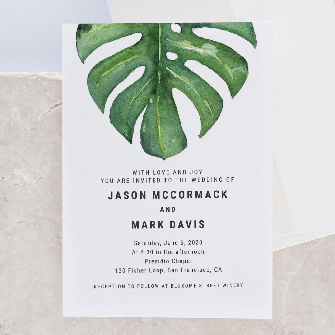 Photo from Zola's printed wedding invitation and save-the-date collection