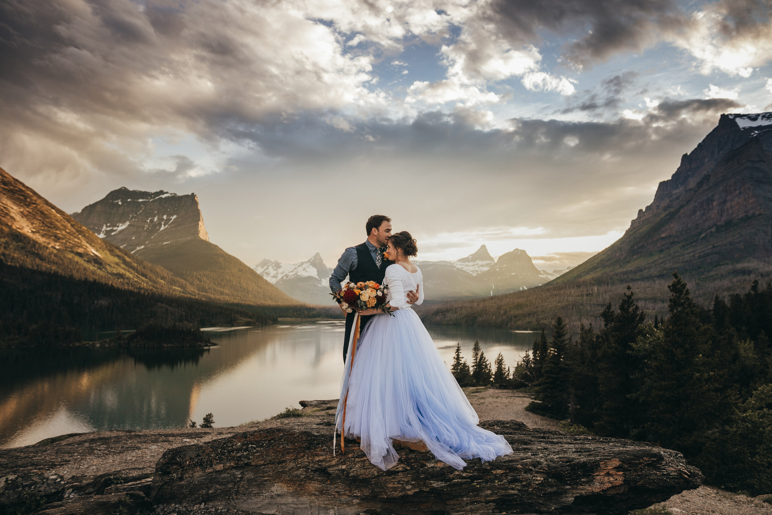 Glacier National Park Elopement | St. Mary | Elsa Eileen Photography