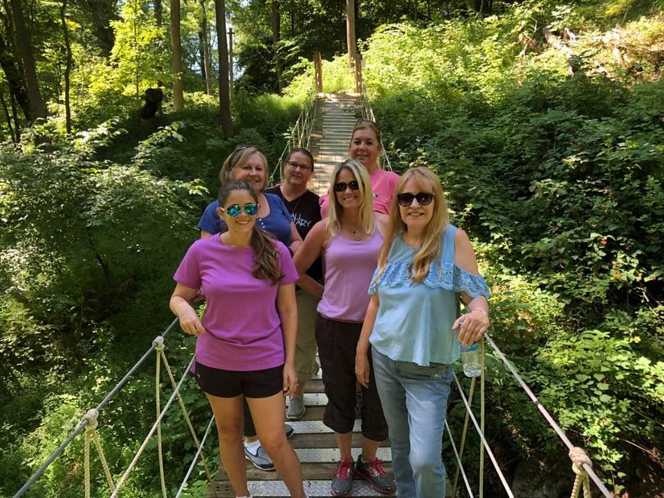 Maegan, Diana, Lisa, Lori, Kelly B. & Rosalind