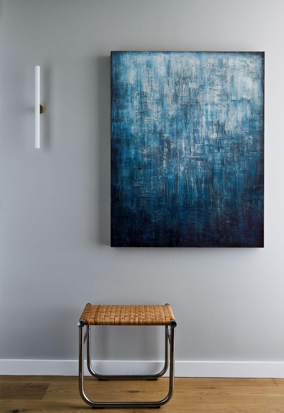 Amanda Moritz blue on blue art
