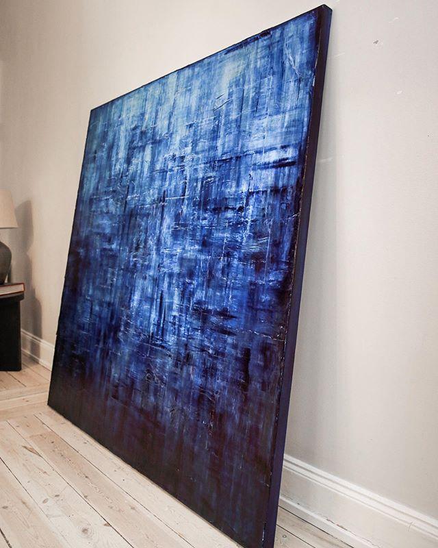 Blue artwork 💙 size 150 x 150 cm #amandamoritzart