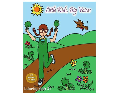 Little Kids Big Voices Coloring Book #1