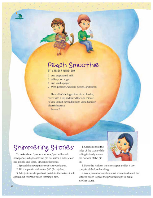 """The Friend Magazine """"Peach Smoothie"""" and """"Shimmering Stones"""" Sept 2005"""