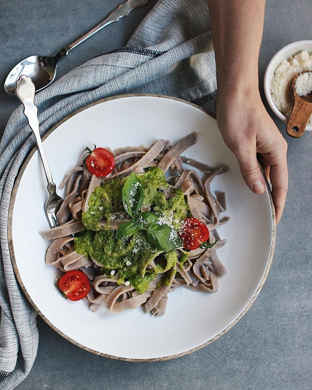 """Homemade Buckwheat Noodles 🍝 anyone?  Thank you everyone who supported us in the first week with our first ebook """"Baking with Buckwheat"""". We are very thankful that we can do what we love and help others to discover another way of baking and cooking.  If you want to know more about our ebook, please click on the link in the bio.  #grainfreebaking#grainfreecooking#glutenfree#sugarfree#sugarfreebaking#fitchickbakery#homemadenoodles#buckwheat#buckwheatnoodles#buckwheatrecipes"""