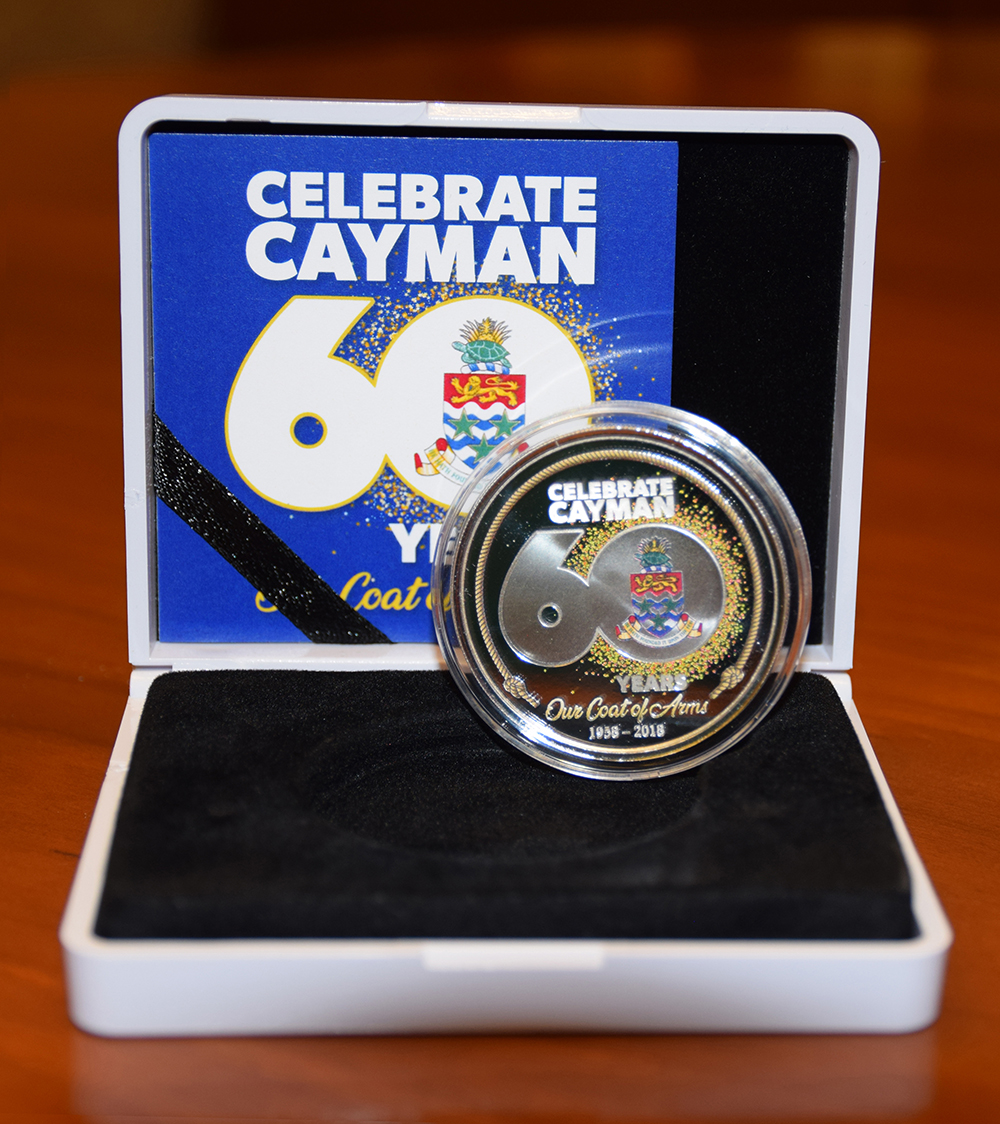 Celebrate Cayman - Coat of Arms 60th Anniversary Coin - 2nd Mintage.jpg