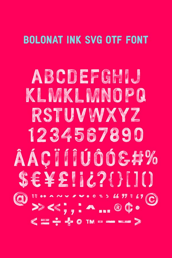 Bolonat Ink SVG Font