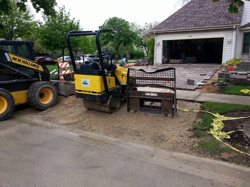 Grading service and other special landscaping services by landscape contractors in Glenview, IL