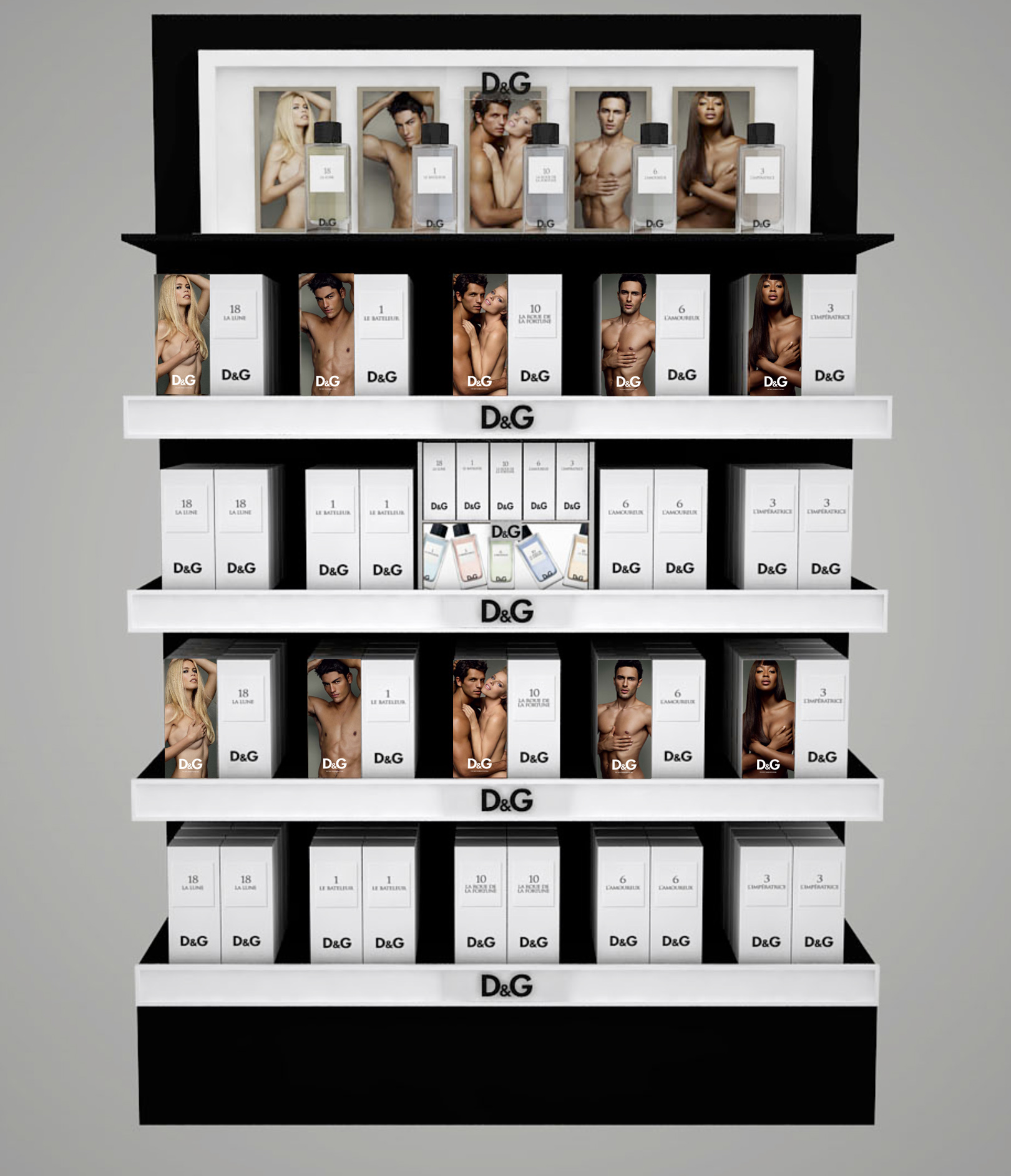 Retouching for D&G new fragrance range launch