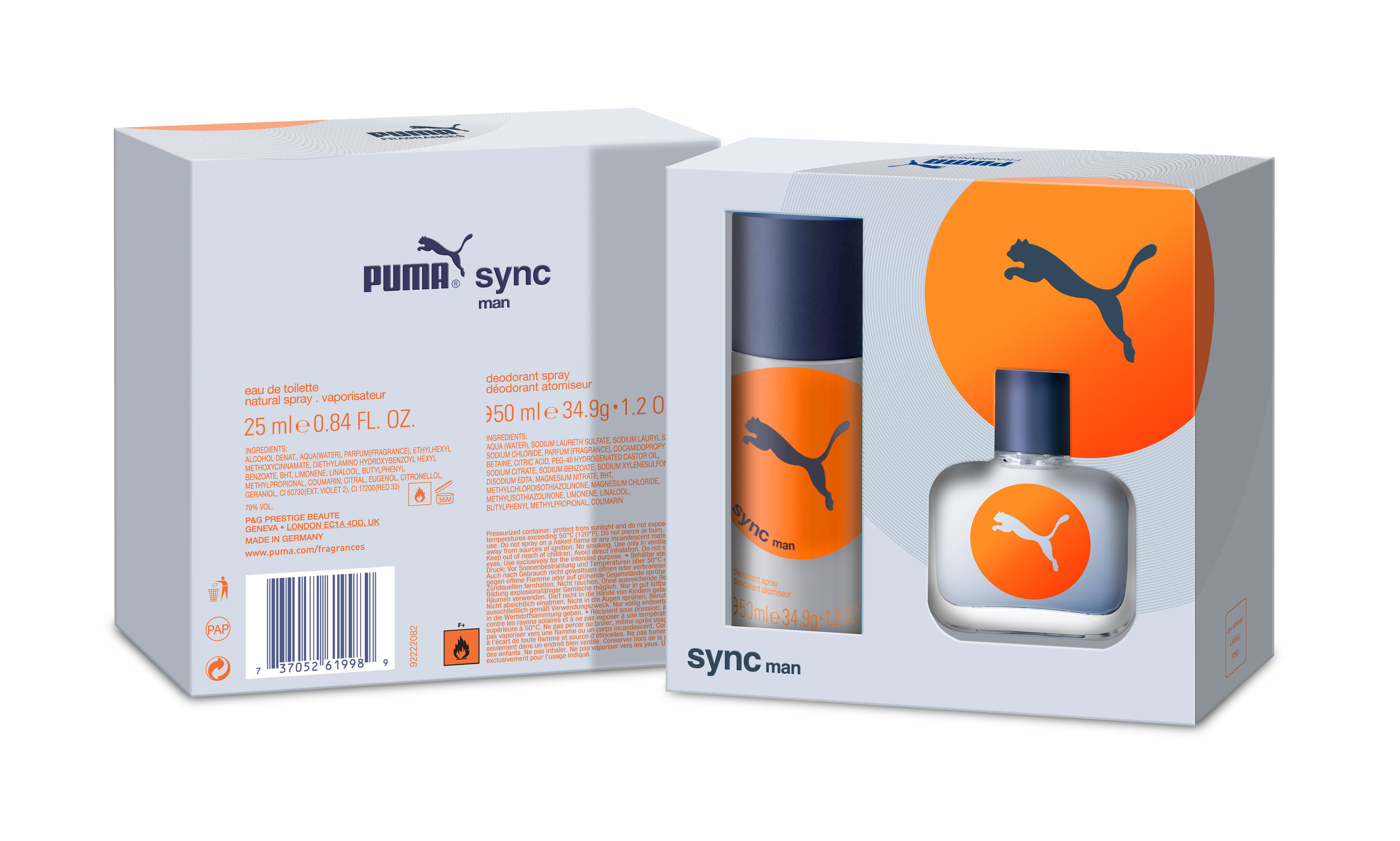 Digital illustration for Puma Sync Male Giftset