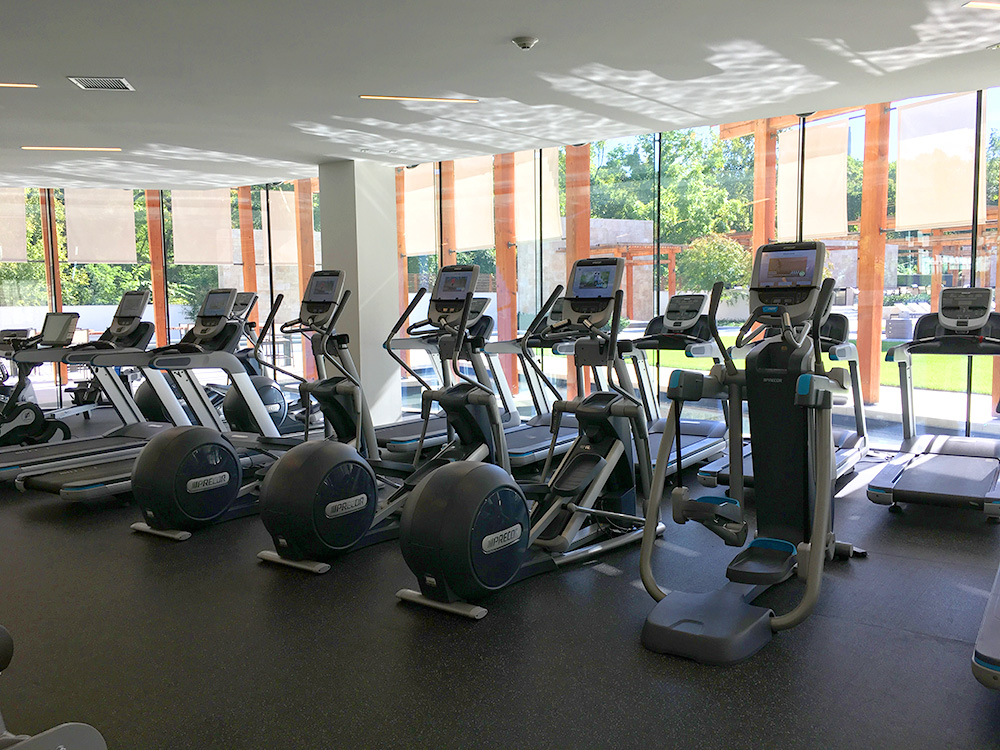 Precor treadmills, ellipticals, and AMT with networked P80 touchscreen consoles.
