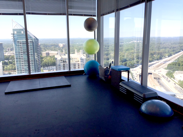 Sovereign Buckhead, a luxury condiminium complex in Atlanta, GA's funcitonal fitness room.
