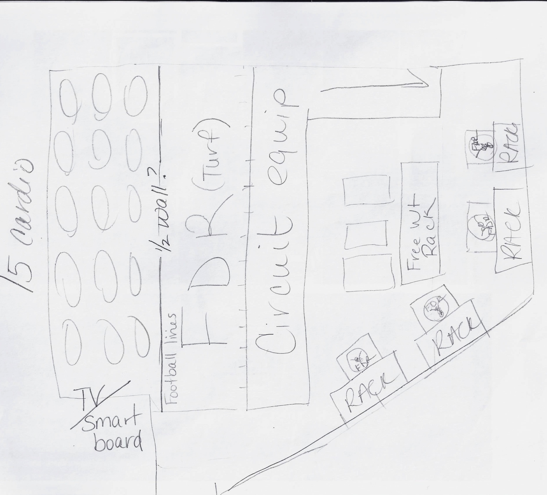 Rough sketch from Hyde Park CSD's Athletic Director, Thomas Cunningham