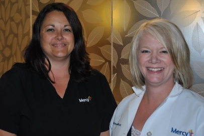 Chaney, left, and Dutton, right - were the only nurses in the state to earn a spot on the list
