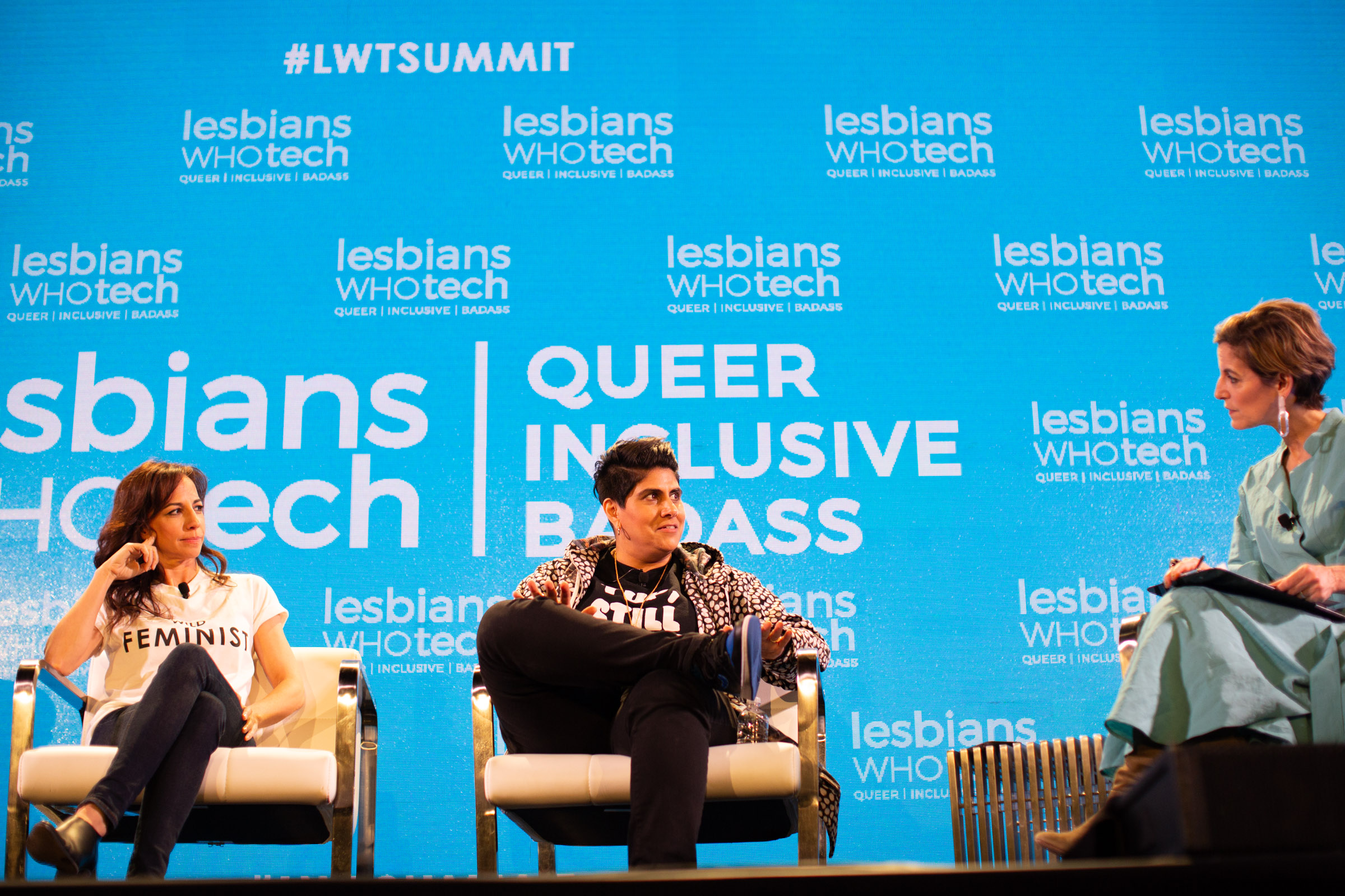 From left to right: Amy Taylor, president and CMO at Red Bull North America, Moj Mahdara, CEO and founder at Beautycon, and Cindi Leive, Senior Fellow at University of Southern California, journalist, and former editor-in-chief at Glamour. Photo by Tumay Aslay