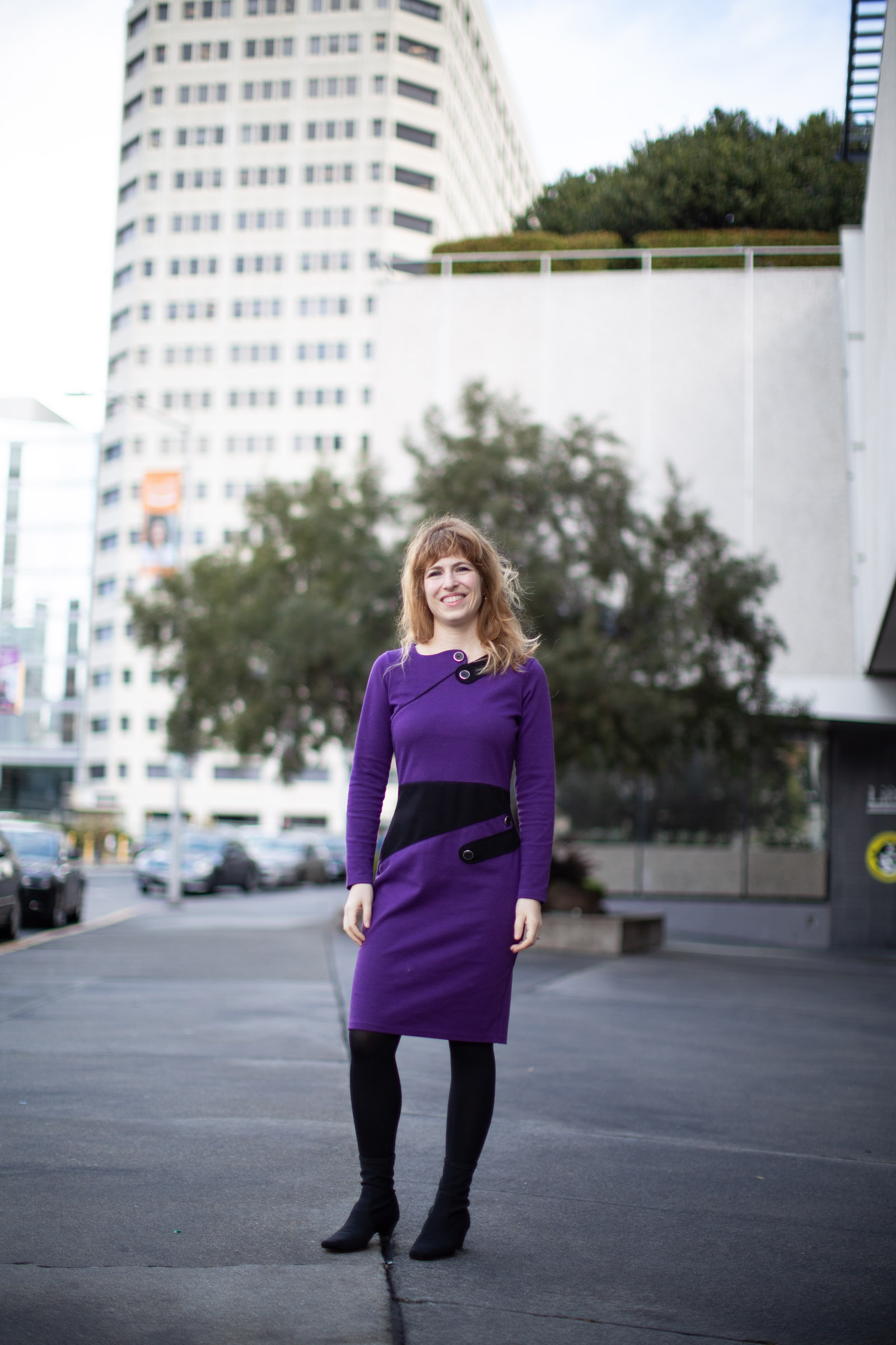 Tess Posner in downtown Oakland. Photo by Tumay Aslay