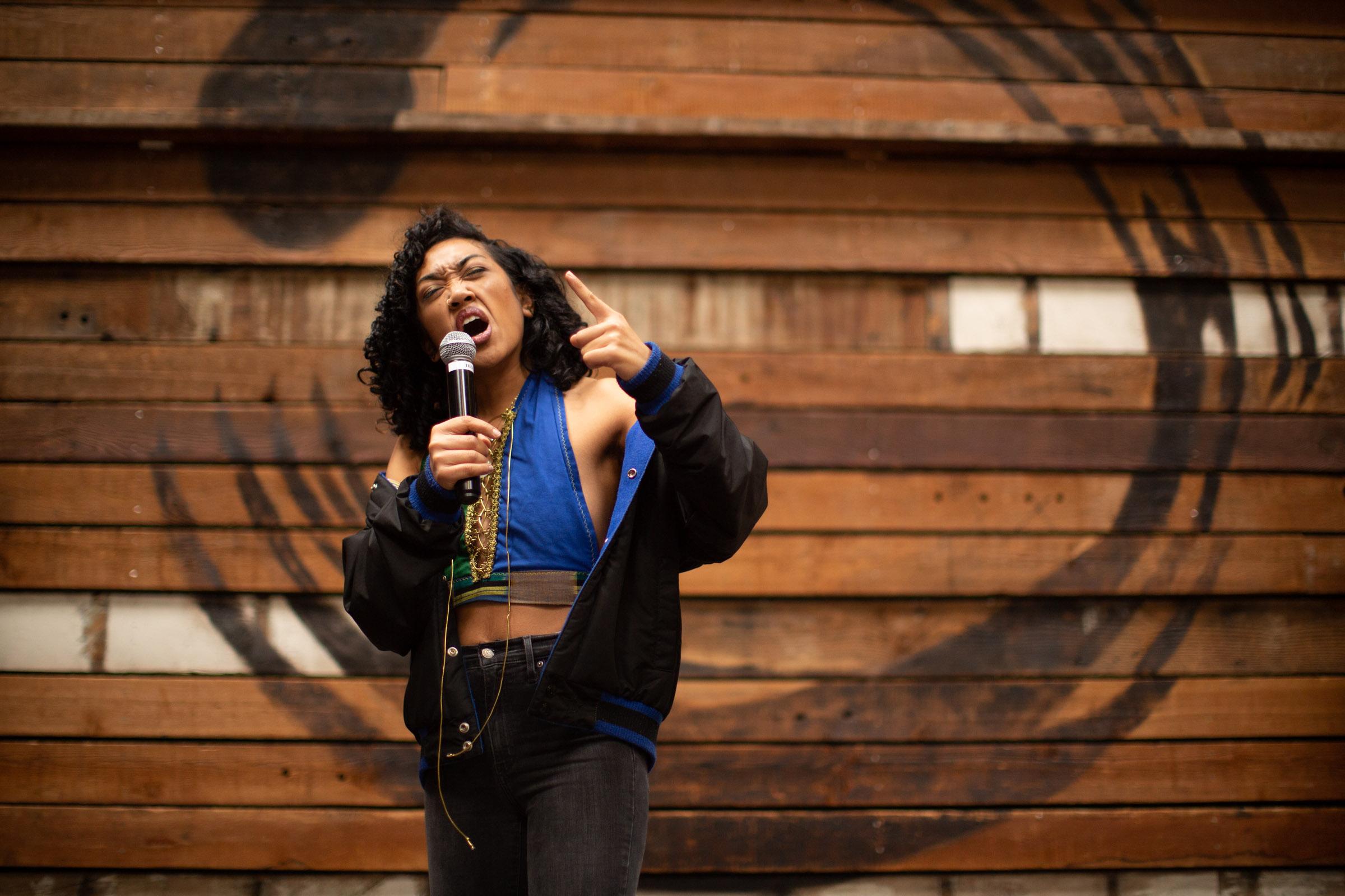 Leilanii Rose, a community based performance artist. Photo by Tumay Aslay.