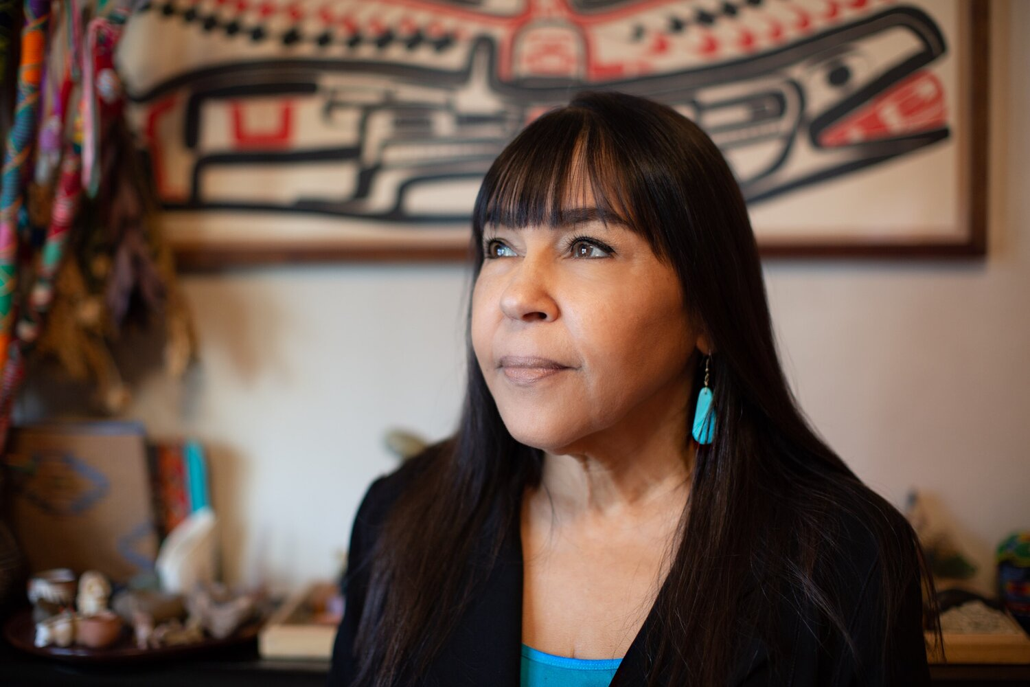 Dr. Leslie Gray is a Native American psychologist and executive director and founder of the    Woodfish Institute   . Photo by Tumay Aslay.