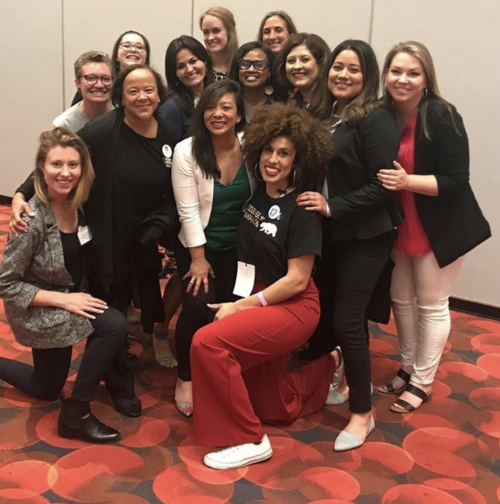 Emerge California inspires women to run for office and hones their skills to win. Emerge California at CADEM 2019 conference with Executive Director Melanie Ramil. Photo courtesy of Emerge California.