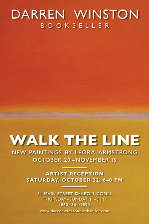 Leora Armstrong's new paintings - are worth seeing.  Stop by if you are in the area.