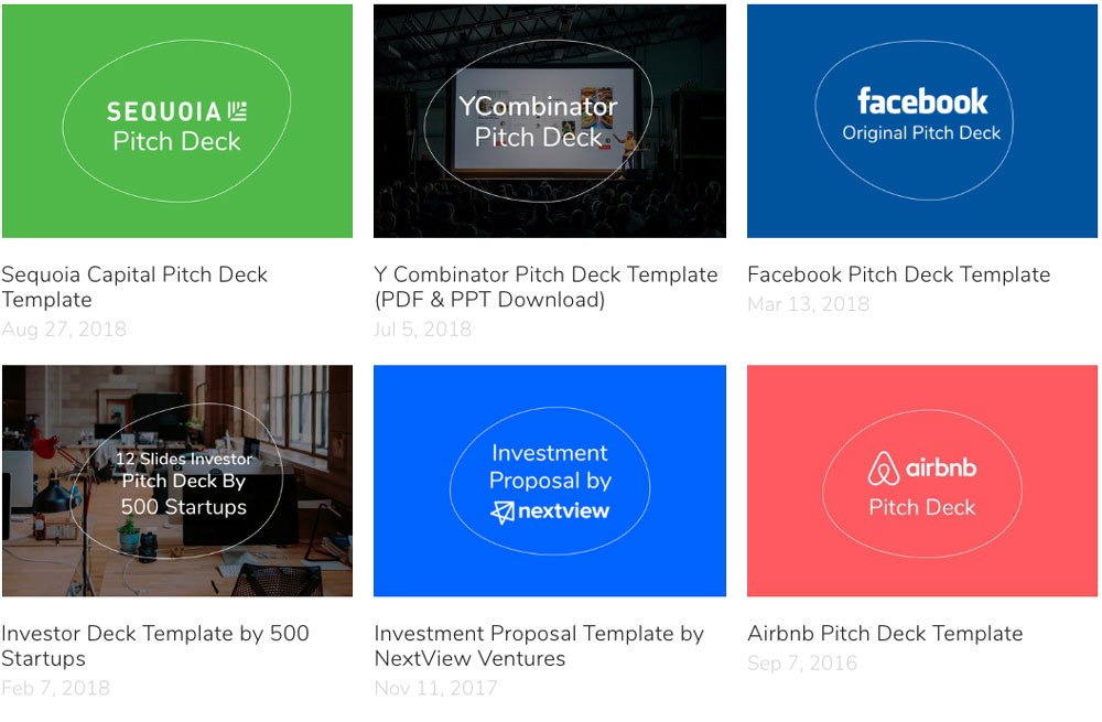 Facebook original pitch deck