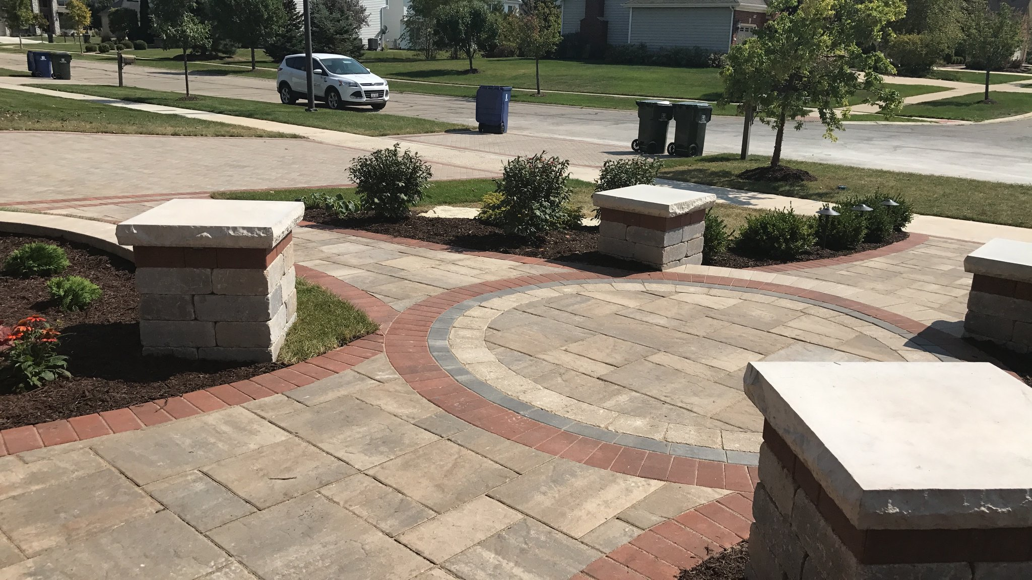 Brick paving driveway and walkway in Naperville, IL