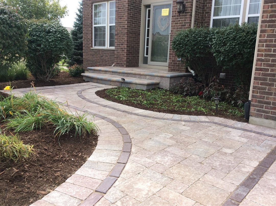 Brick paving walkway in Naperville, IL