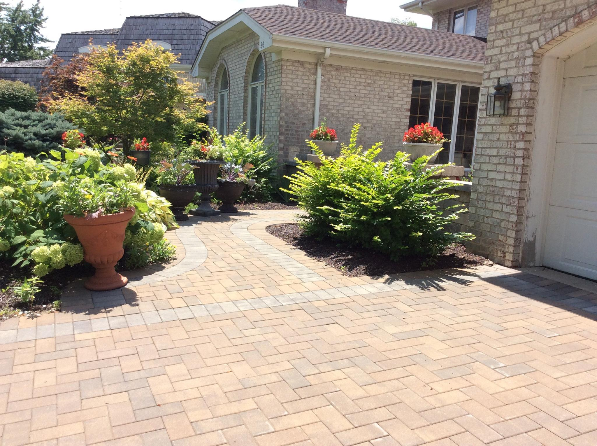 Brick walkway and driveway in Naperville, IL