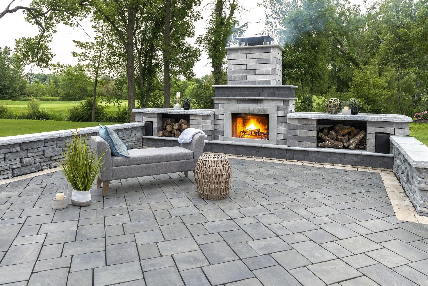 Beautiful brick patio in Oak Brook, IL