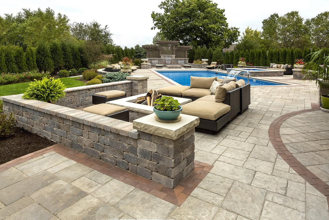 Landscape construction in Oswego, IL