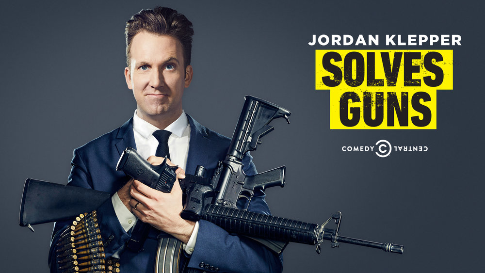 Jordan Klepper is an enlightened, progressive, sartorially aware comedian who's determined to fix America's gun violence epidemic. As his quest takes him from the nation's capital to the deep woods home of the Georgia militia and beyond, one thing is clear: If Jordan can't solve guns, no one can. (Hopefully, this is not true.)
